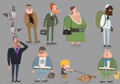 """Character extras from the animated short file """"Salesman Pete"""""""