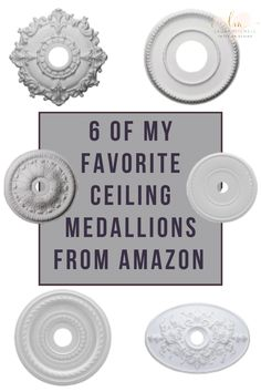 Ceiling medallions add the perfect touch to your home decor. Here are my favorite medallions that are very affordable from Amazon.