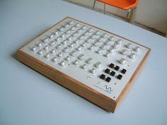 Super sleek homemade midi controller.  Love the design