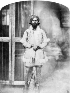 Rare Photos Of Indian Mutiny / Sepoy Mutiny / Indian Rebellion / Uprising Of 1857 Nawab Tafazzul Husain Khan, Nawab Of Farrukhabad. He was exiled to Mecca for his role in helping rebel forces during Indian Mutiny 1857.