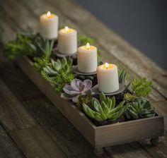 Votive Candle Centerpiece | Centerpiece Planter