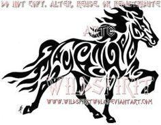 Tribal Icelandic Horse Tattoo by WildSpiritWolf