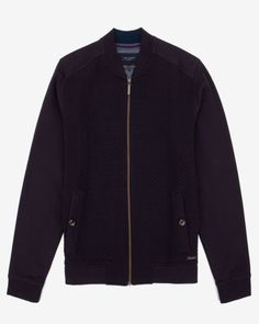 Quilted herringbone bomber jacket - Purple | New Arrivals | Ted Baker UK
