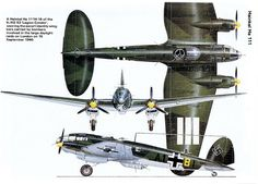 "The Heinkel He 111 was a German aircraft designed by Siegfried and Walter Günter in the early 1930s in violation of the Treaty of Versailles. Often described as a ""Wolf in sheep's clothing"",[3][4] it masqueraded as a transport aircraft, though its actual purpose was to provide the Luftwaffe with a fast medium bomber."