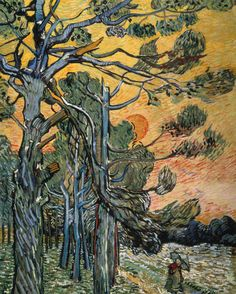 Vincent VanGogh, Pine Trees by Sunset.
