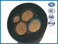 Rubber cable 4 core mining cable