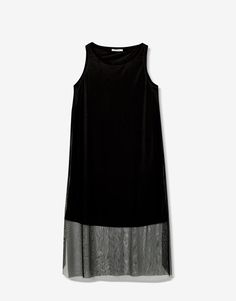 Tulle midi dress - Clothing - New - Woman - PULL&BEAR Serbia