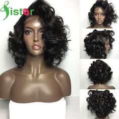 68.01$  Watch here - http://aliyd8.worldwells.pw/go.php?t=32781608293 - Brazilian Full Lace Wigs With Baby Hair Short Lace Front Human Hair Wigs For Black Women Virgin Glueless Front Lace Wigs Bob Wig