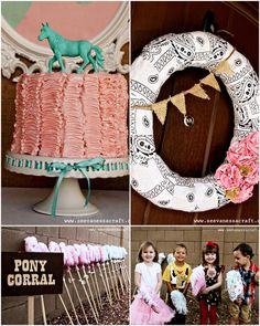 Pink and Aqua Cowgirl Themed Birthday Party! | Pizzazzerie