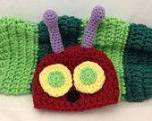 Crochet Newborn Very Hungry Caterpillar Photo Prop