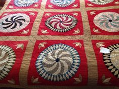 Vintage Antique 1930's COLORFUL FEEDSACK Quilt (#12) in Antiques, Linens &…