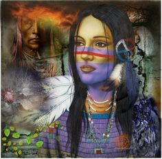 """""""Many Moons Have Passed , And Gentle They Come To me , The Spirits Of Days Long Ago ......."""" by cathinka180 ❤ liked on Polyvore Native American Flag, Native American Artwork, American Indian Art, American Women, Native Indian, Native Art, Indian Pictures, Southwest Art, Indian Artist"""
