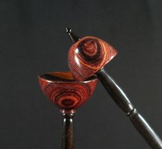 Cocobolo and Ebony Tibetan Support Spindle with Matching Lap Bowl#Repin By:Pinterest++ for iPad#