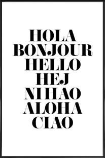 Hellos - Mottos by Sinan Saydik - Poster im Kunststoffrahmen
