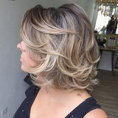 Medium Curly Layered Hairstyle