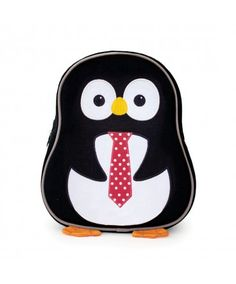 Apple Park Penguin - Made From 100% Recycled Fabric - http://www.applepark.com/green-accessories/eco-friendly-packs/preschool-backpacks-from-100-recycled-fabrics-penguin.html