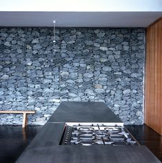 Gabion wall.   Dean Jay Architects
