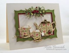 Good Tuesday morning. My project today was made using the new Impression Obsession Tea Set. I...