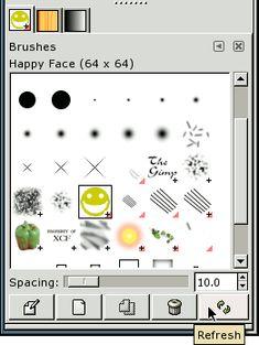 Turn a dingbat into a brush GIMP tutorial