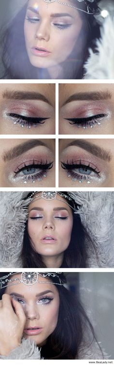 Winter fashion makeup