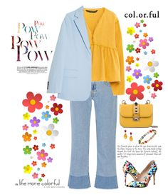 """""""A life more colorful"""" by musicfriend1 on Polyvore featuring Victoria, Victoria Beckham, Valentino, Zara, Acne Studios, Dune, Goshwara, Ippolita, women's clothing, women and female"""