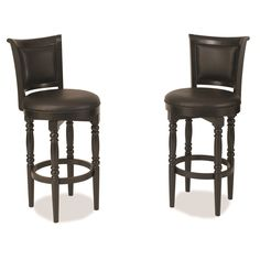 Home Styles St. Croix Black Swivel Bar Stool | Overstock.com
