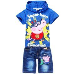 conjunto infantil, transado, roupas transadas, roupa infantil, roupa masculina infantil, CONJUNTO BERMUDA E CAMISETA PEPPA PIG