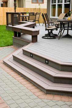 Trex Deck Design Ideas deck patio patio sudbury split level deck madeira trex decks over Deck Design Ideas Trex Cedar Hardwood Alaskan0119 Decks Backyards And House