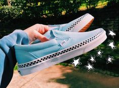 Vans shoes, Skate shoes, Sock shoes, Custom shoes, Cute shoes - ok these may be HELLA basic but ur girls been wanting these for so long Tenis Vans, Vans Sneakers, Platform Sneakers, Vans Shoes Outfit, Puma Platform, Basket Style, Cute Vans, Aesthetic Shoes, Vans Slip On
