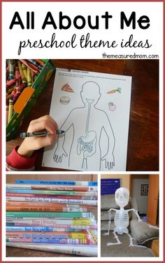 All about me!  (fabulous science activities from Our Time to Learn)- workbook review from The Measured Mom - human body activities for preschool, kindergarten, home school, or first grade.