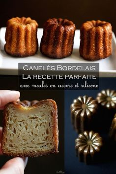 Canelés bordelais, la receta perfecta (paso a paso) Thermomix Desserts, Köstliche Desserts, Delicious Desserts, Dessert Recipes, French Bakery, French Pastries, Desserts With Biscuits, Recipe Steps, Perfect Food