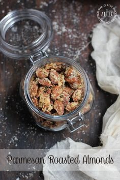 Parmesan roasted almonds are a great no-carb alternative to croutons and make an addictive gluten free snack!