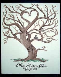 heart tree  | ... Medium/Large, up to 150 Guests) 20 x 24 Painted Heart Tree on Canvas