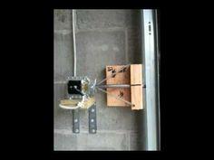 Garage Door Deadbolt Automatic Lock - YouTube