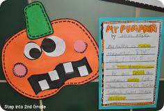 It's about that time for. We've been busy trying to incorporate Halloween cuteness with our learning because our school's Fall Festival Thanksgiving Activities, Halloween Activities, Autumn Activities, Classroom Activities, Halloween Crafts, Classroom Ideas, Future Classroom, Kid Crafts, Halloween Ideas