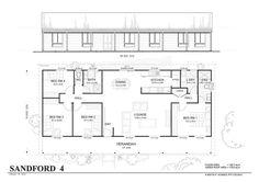 simple 4 bedroom floor plans - Google Search