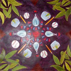 Personal Mandala in acrylic. School Painting, Painting Lessons, High School, Mandala, Ideas, Art, Art Background, Grammar School, Kunst