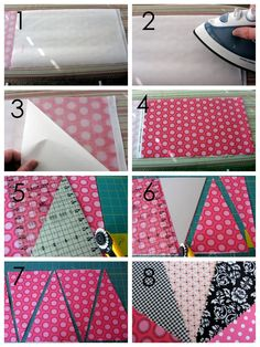 My Blonde Ambitions: Double Sided Bunting Tutorial for TomKat Studio and Giveaway Make Bunting, Bunting Banner, Pennant Banners, Fabric Garland, Fabric Bunting, Fabric Banners, Bunting Pattern, Fabric Crafts, Sewing Crafts