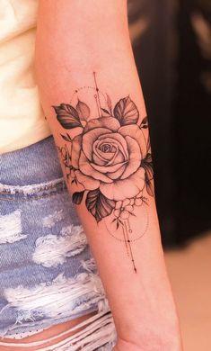 Feminine tattoos on the arm: The 80 best ideas. - Photos and Tattoos - Feminine. - Feminine tattoos on the arm: The 80 best ideas. – Photos and Tattoos – Feminine tattoos on the - Tattoo Femeninos, Rose Tattoo Forearm, Body Art Tattoos, Girl Tattoos, Sleeve Tattoos, Tatoos, Men Tattoos, Couple Tattoos, Finger Tattoos