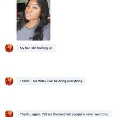 customer's feedback!! TAG your friends who might need hair  DM/text/email to request an invoice  #Snapchat /Kik: spicyhairtracy  Skype:spicyhair02  Whatsapp:8615989767747  email: tracy@spicyhair.com  #hairproduct #remyhair #hairextension #hairweave #hairstylist #hairsalon #bundles #kinkystraight #clipins #sewin #tapehair #humanhair #virginhair #brazilianhai #bundledeal #idohair #clipin #clipinextension #hairstylist #spicyhair#Instagramhair#hairsupplier#wholesalehair