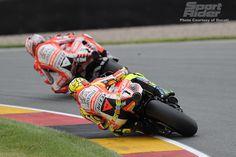 2011 MotoGP Sachsenring race Valentino Rossi and Nicky Hayden
