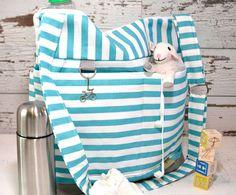 leila - Diaper Bag / turquoise