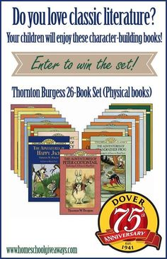 Big Giveaway and Coupon! Enter to Win a Thornton Burgess 26 Book Set of Physical Books!