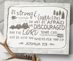 Joshua 1 9  Be Strong  And Courageous  Joshua 1 by SweetFaceDesign