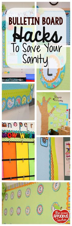 Bulletin board hacks to save your sanity. Time saving, money saving, and energy saving ideas!