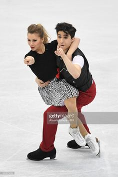 Marjorie Lajoie and Zachary Lagha of Canada compete in the Junior Ice Dance Short Dance during the 2nd day of the World Junior Figure Skating Championships at Taipei Multipurpose Arena on March 16, 2017 in Taipei, Taiwan.