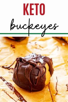 You are going to go wild for these easy to make no-bake Keto Buckeyes. Chocolate Peanut Butter Balls make the BEST easy low carb snack, and they keep great in the freezer. #kickingcarbs #nobakepeanutbutterballs #ketobuckeyes #ketopeanutbutterballs #nobake #keto