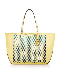 West 57th E/W Perforated Tote   Handbags   Henri Bendel