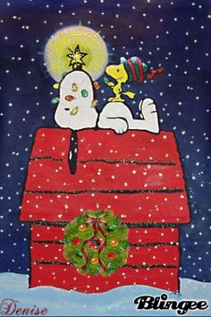 Snoopy and Woodstock:: A Charlie Brown Christmas. Snoopy Love, Snoopy E Woodstock, Charlie Brown Und Snoopy, Peanuts Christmas, Noel Christmas, Winter Christmas, Vintage Christmas, Charlie Brown Christmas Decorations, Christmas Quotes