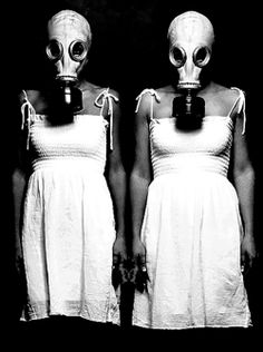 Alien lesbians, celebrating their Love for one another – in matching 'Mustard Gas Chic' interpretations of the traditional wedding veil